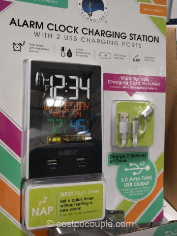 La Crosse Alarm Clock Charging Station Costco 3