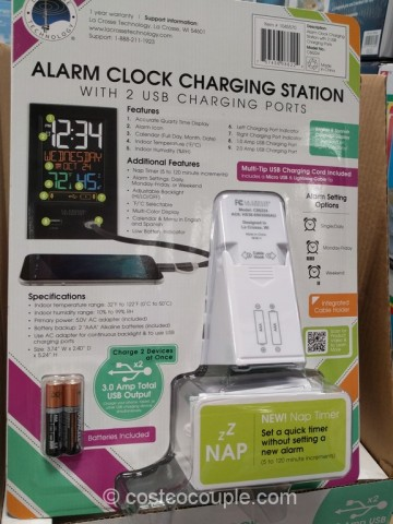 La Crosse Alarm Clock Charging Station Costco 4