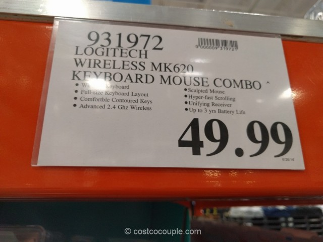 Logitech Wireless Keyboard and Mouse Combo Costco 1
