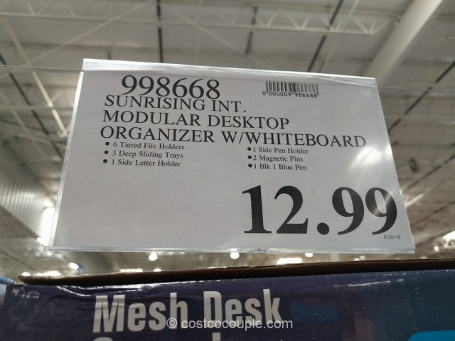 Mesh Desk Organizer With Whiteboard Costco 1