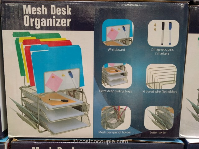 Mesh Desk Organizer With Whiteboard Costco 3