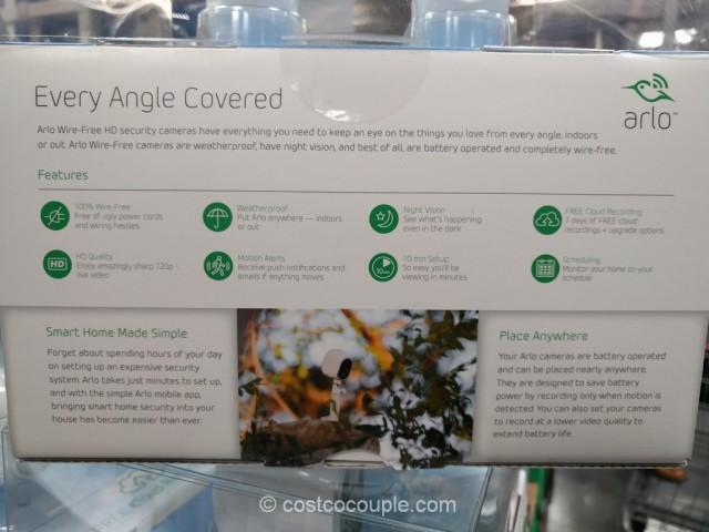 Netgear Arlo Wire-Free HD Security Camera System Costco 6