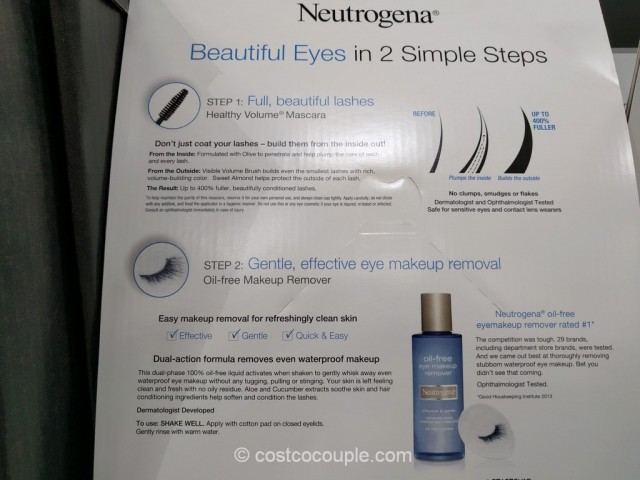 Neutrogena Oil-Free Eye Makeup Remover Set Costco 3