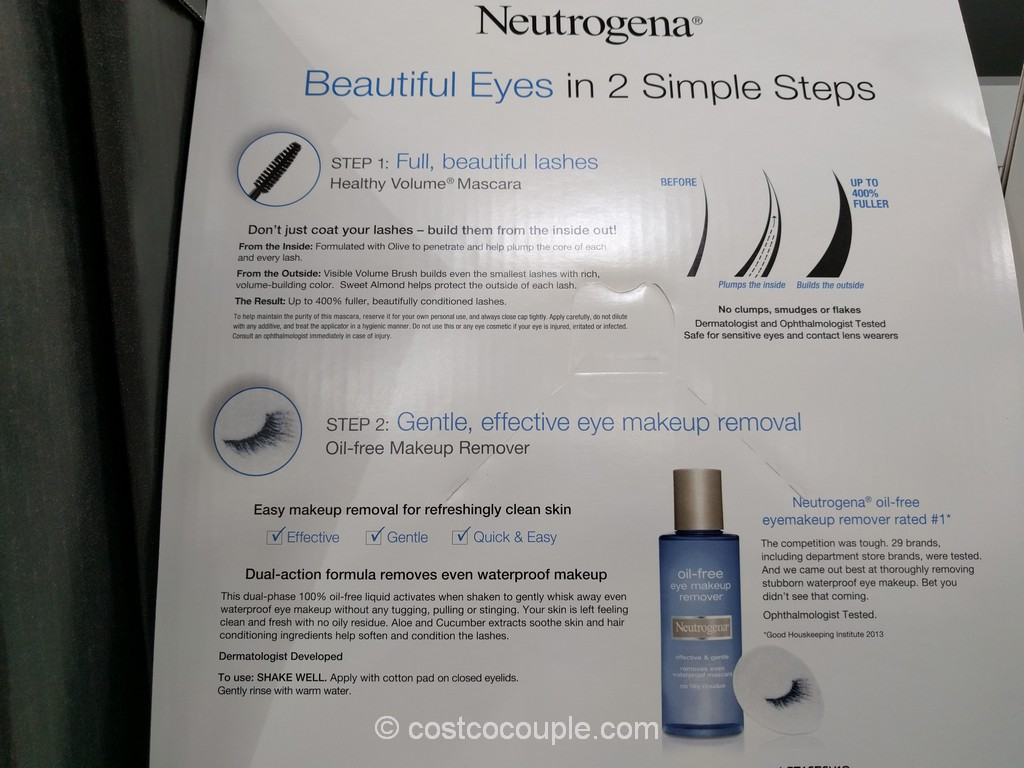 Neutrogena eye makeup remover ingredients