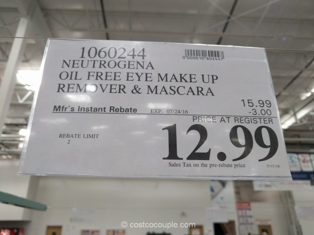 Neutrogena Oil-Free Eye Makeup Remover Set Costco 6