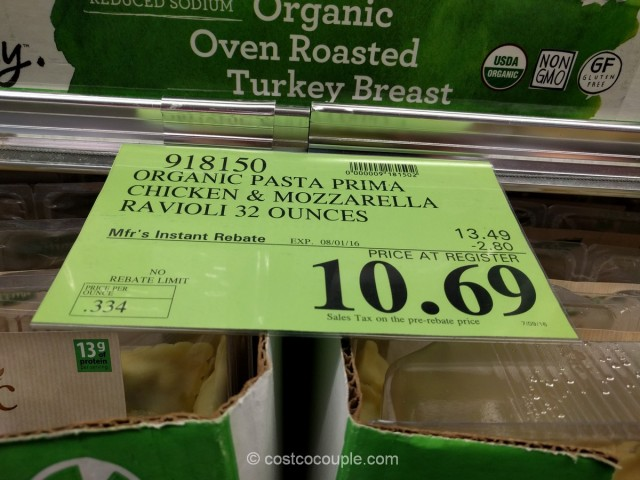 Pasta Prima Organic Chicken and Mozarella Ravioli Costco 1