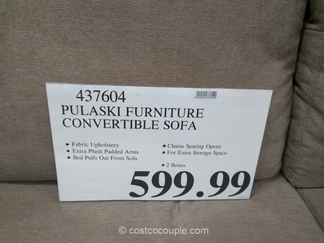 Pulaski Convertible Sofa Chaise Costco 1