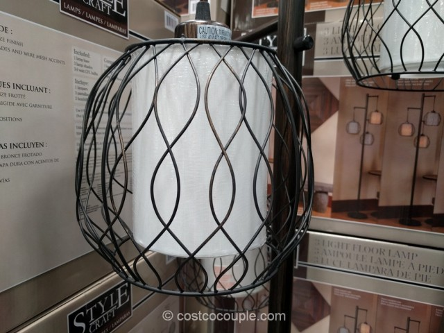 stylecraft 3 light floor lamp. Black Bedroom Furniture Sets. Home Design Ideas