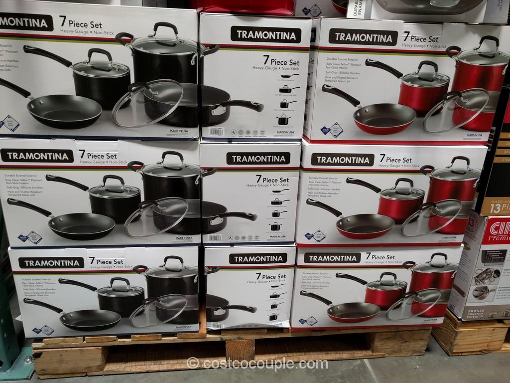 Tramontina 7-Piece Aluminum Cookware Set Costco 2