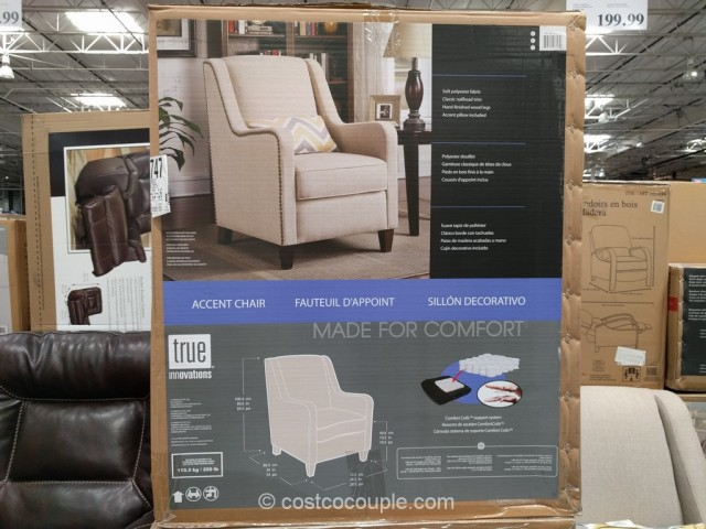 True Innovations Fabric Accent Chair Costco 4