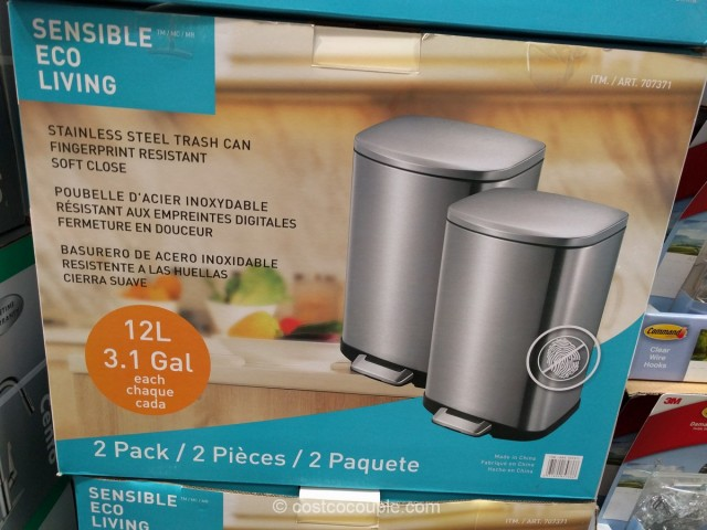 Eko USA 2-Pack Stainless Steel Trash Can Costco 2