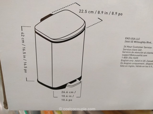 Eko USA 2-Pack Stainless Steel Trash Can Costco 5