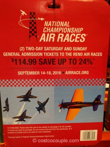 Gift Card Reno Air Races 2016 Costco 2