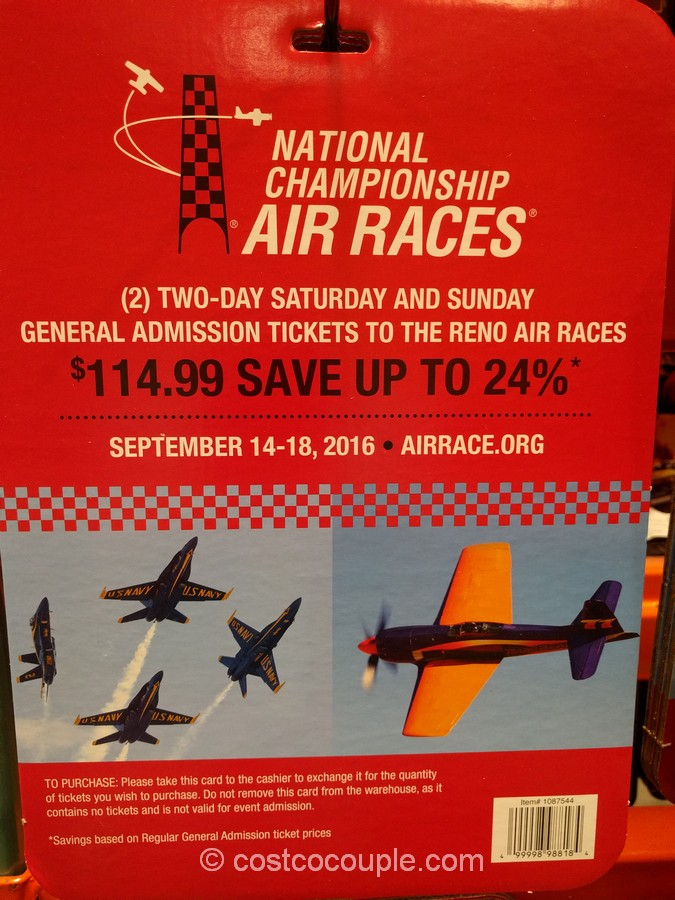 Gift Card Reno Air Races 2016 Costco 2