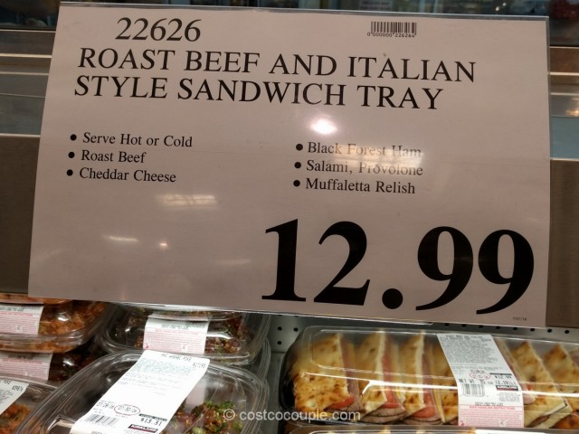 Roast Beef and Italian Style Sandwich Tray Costco 1