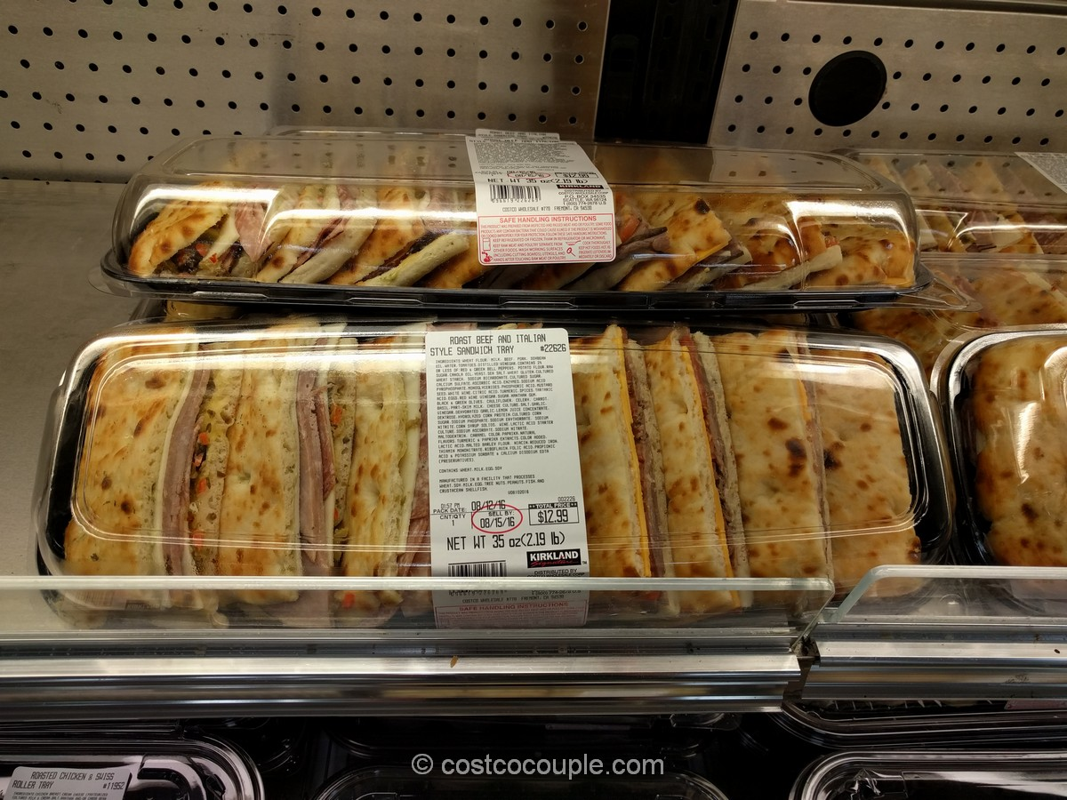 Roast Beef and Italian Style Sandwich Tray Costco 2