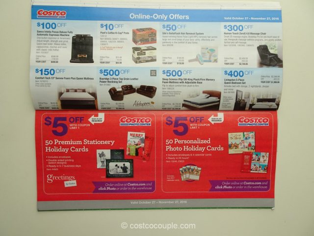 costco november 2016 coupon book 10 - Costco Holiday Cards