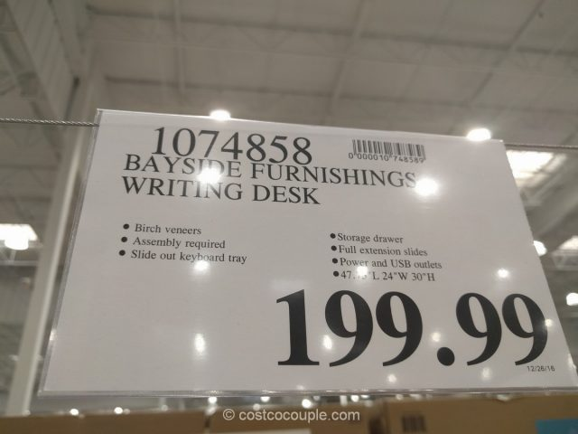 Bayside Furnishings Writing Desk Costco 1