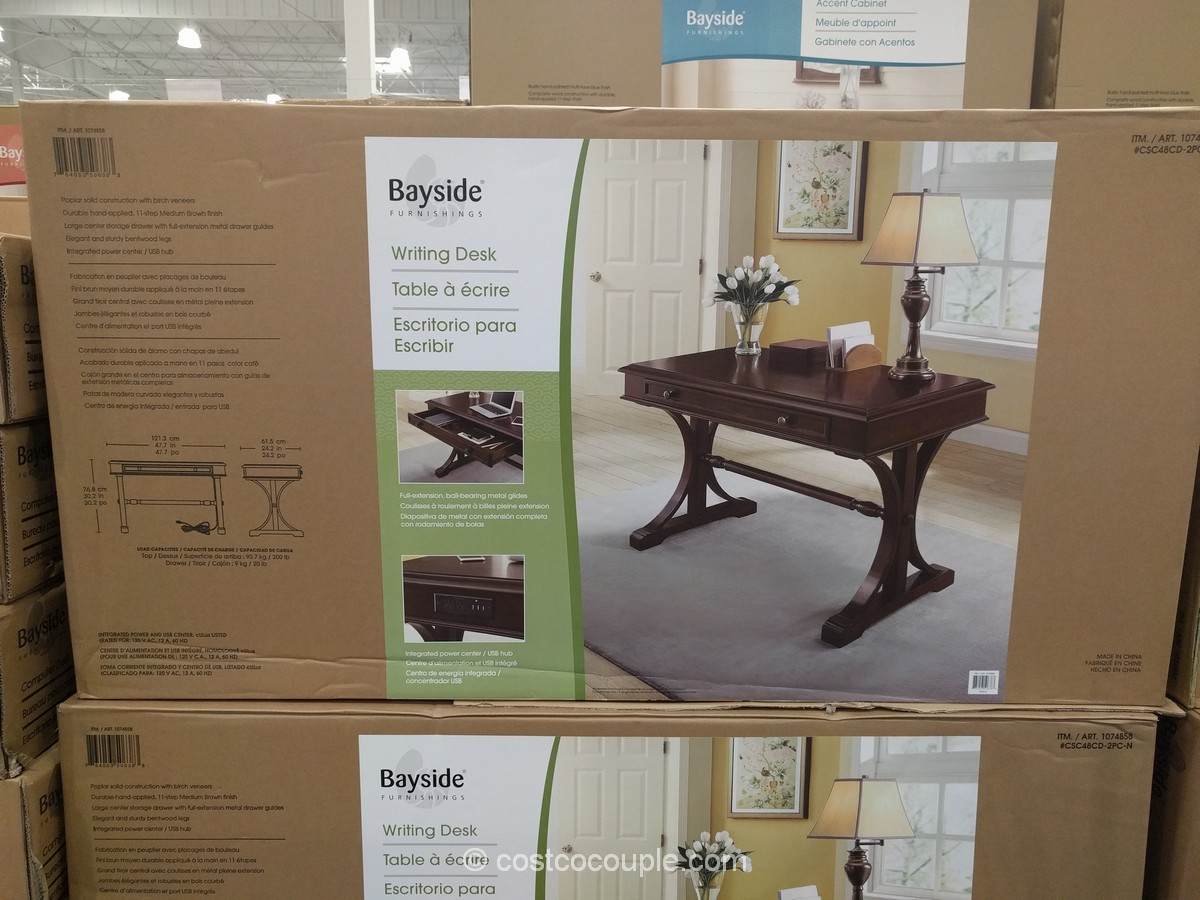 Bayside Furnishings Writing Desk Costco 2