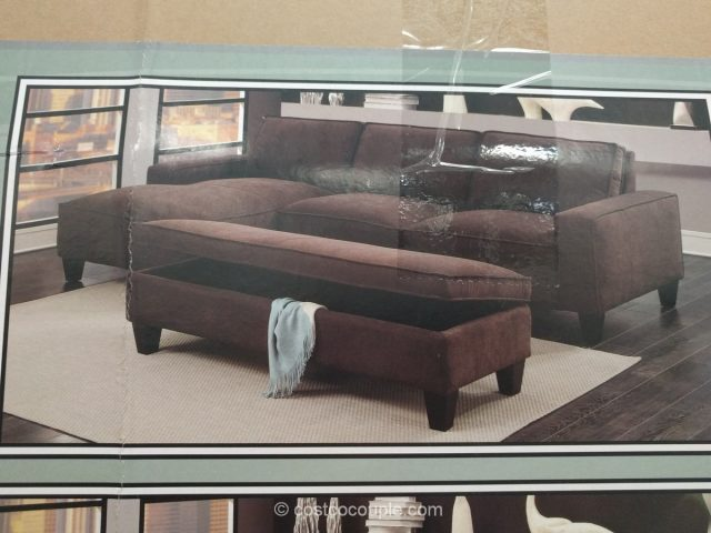Chaise sofa with storage ottoman for Chaise lounge costco