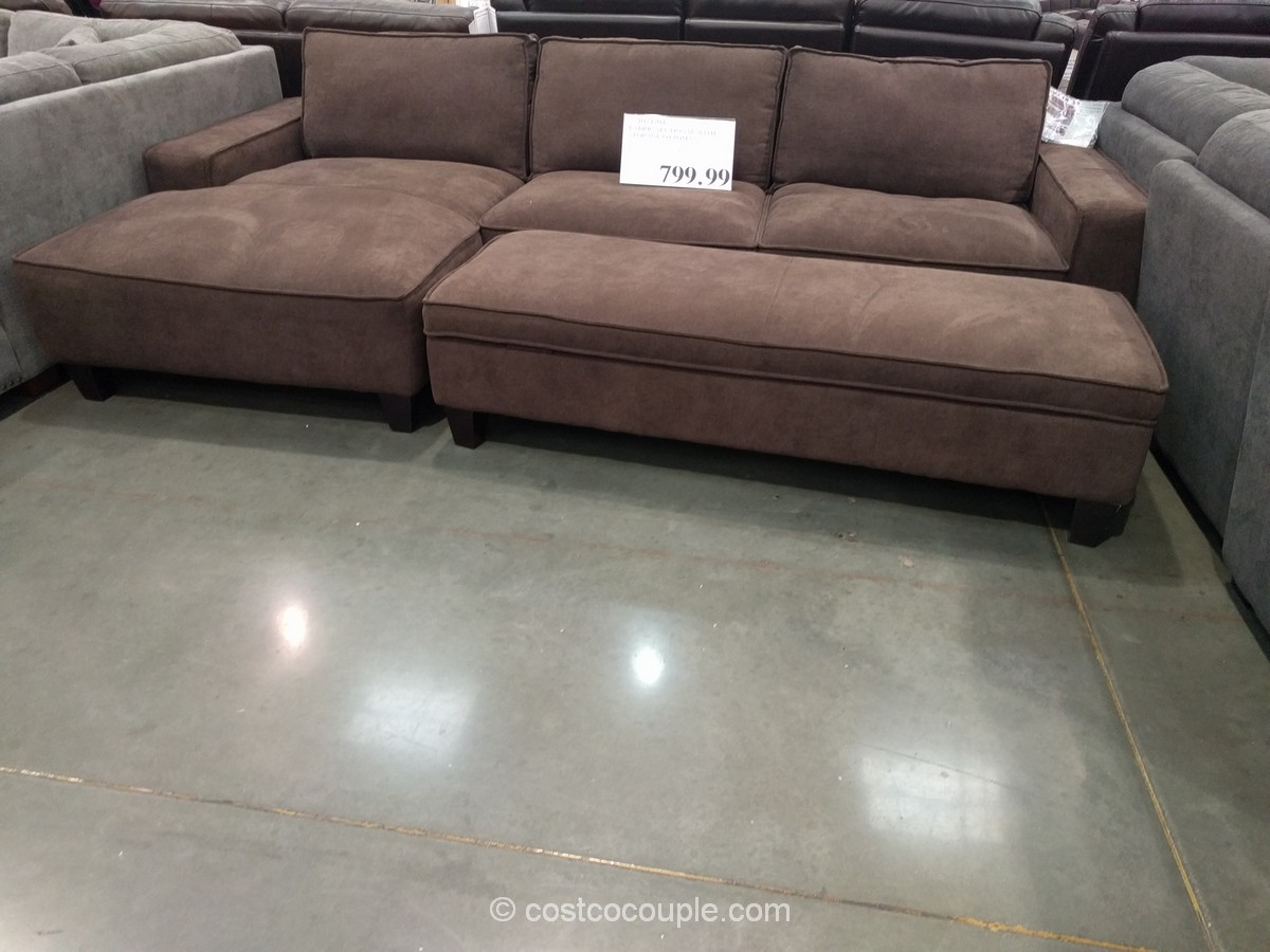 Chaise Sofa With Storage Ottoman ...