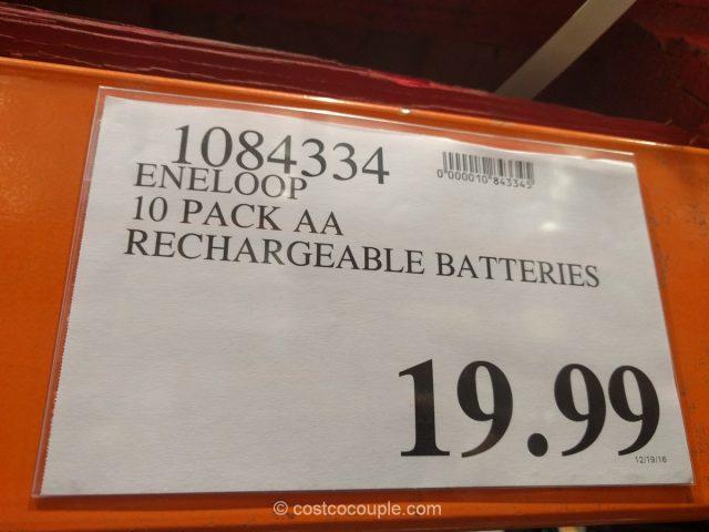 Eneloop AA Rechargeable Batteries Costco 1
