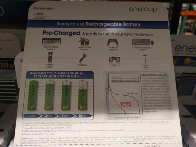 Eneloop AA Rechargeable Batteries Costco 3