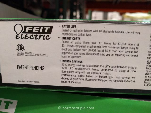 Feit Electric 4-Ft LED Tubes Costco 4