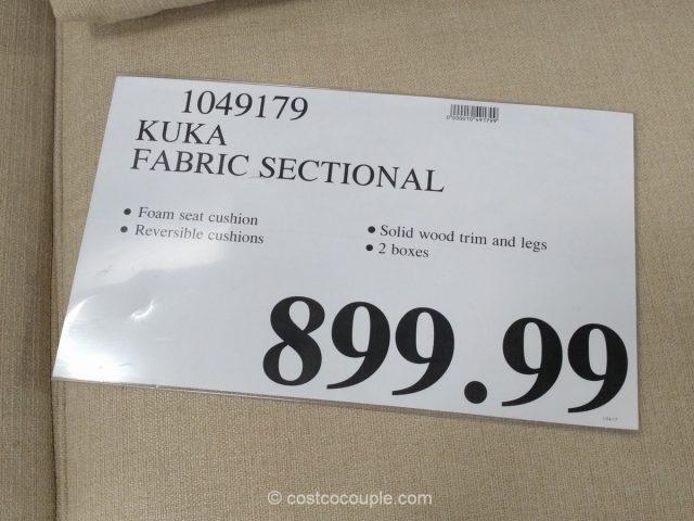 Kuka Fabric Sectional Costco 1