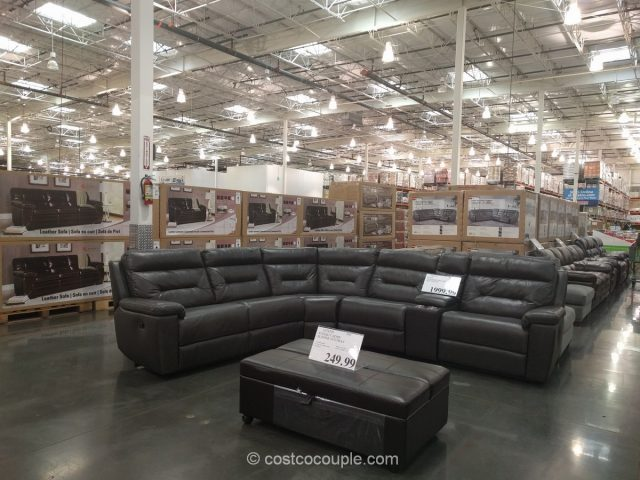 Costco Leather Sectional Sofa Marks And Cohen Lansing 2 ...