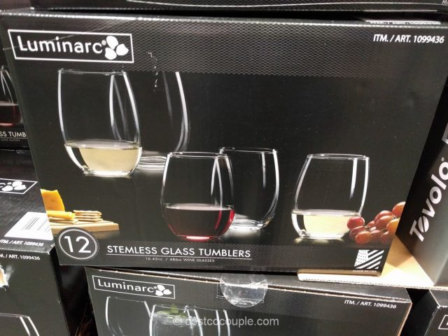 Luminarc Stemless Glass Set Costco 2