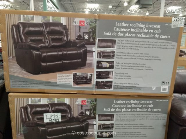 Pulaski Leather Reclining Loveseat Costco 2