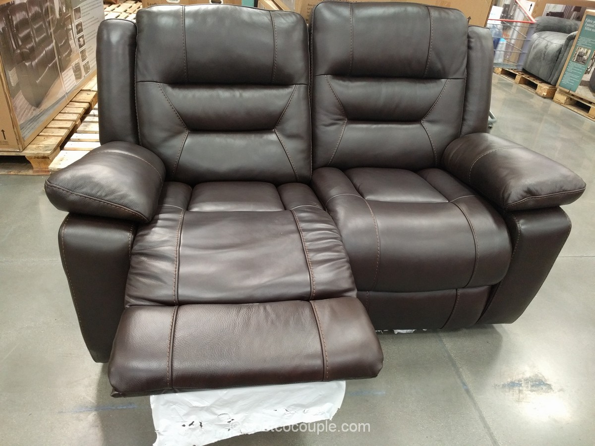 Pulaski Leather Reclining Loveseat Costco 3