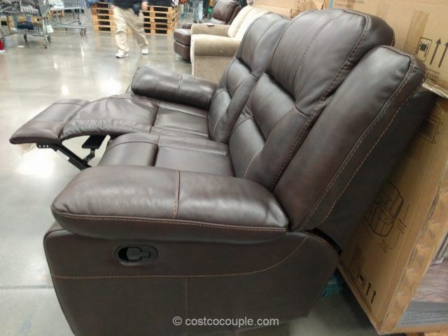 Pulaski Leather Reclining Loveseat Costco 4