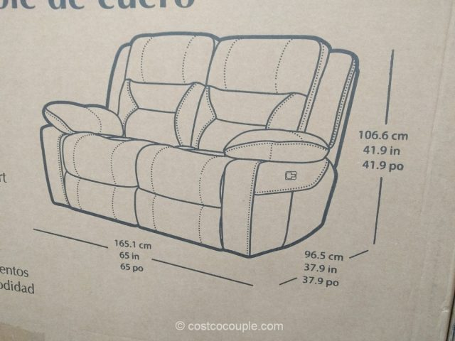 Pulaski Leather Reclining Loveseat Costco 8
