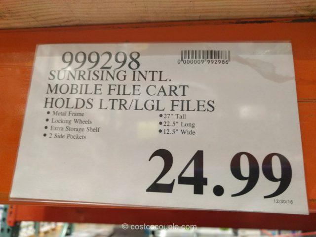 Sunrising Intl Mobile File Cart Costco 1