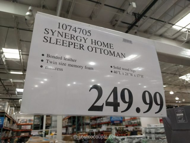 Synergy Home Sleeper Ottoman Costco 1