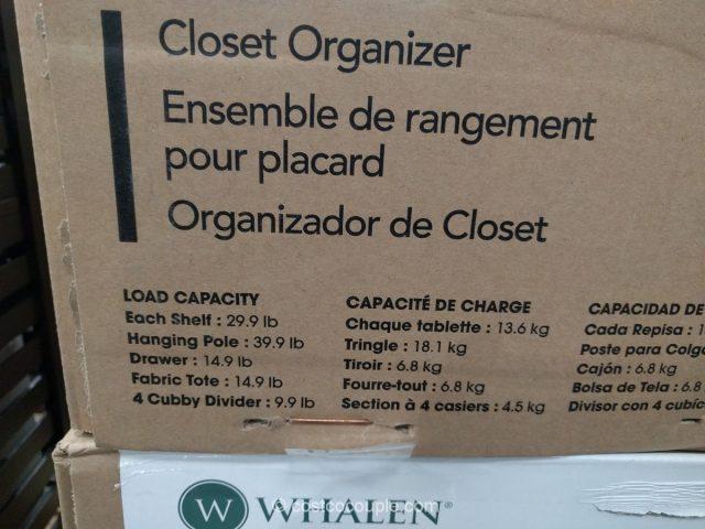 Whalen Closet Organizer Costco 5