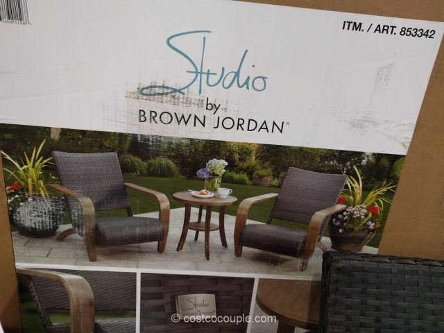 Brown Jordan 3 Piece Adirondack Set Costco 6