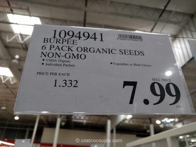 Burpee 6-Pack Organic Seeds Costco 1