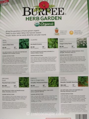 Burpee 6-Pack Organic Seeds Costco 5