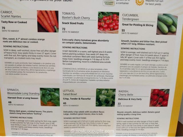 Burpee 6-Pack Organic Seeds Costco 6