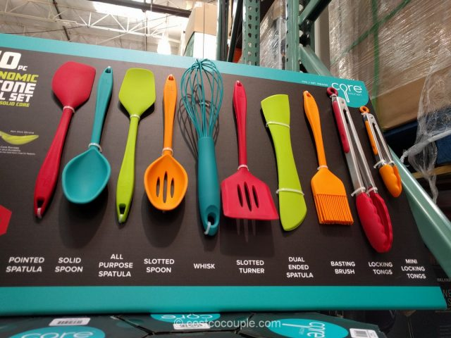 Core Kitchen 10-Piece Silicone Utensil Set Costco 5
