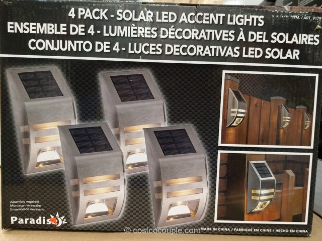 Car Battery Costco >> Solar LED Post Lights