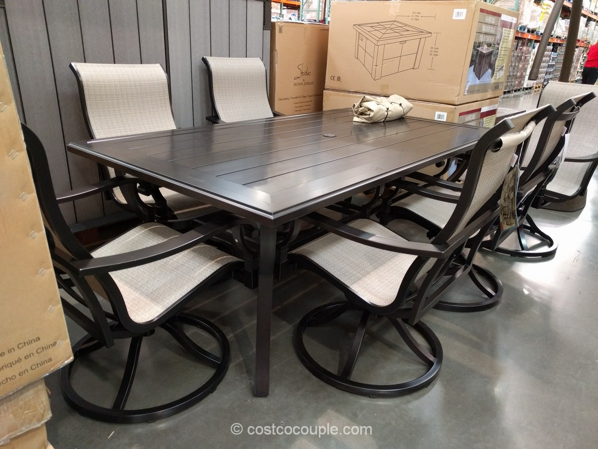 Sunvilla 7-Piece Sling Dining Set Costco 2