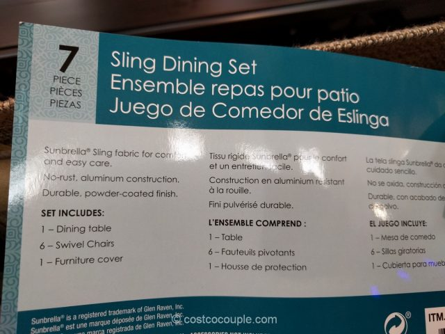 Sunvilla 7 Piece Sling Dining Set