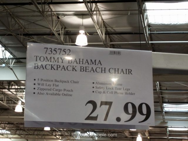 tommy bahama backpack beach chair costco 2 - Tommy Bahama Chairs Beach
