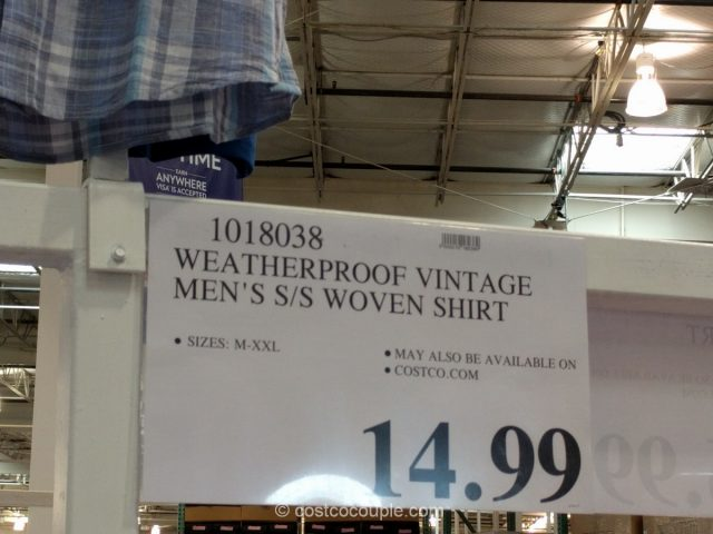 Weatherproof Vintage Mens Shirt Costco 1