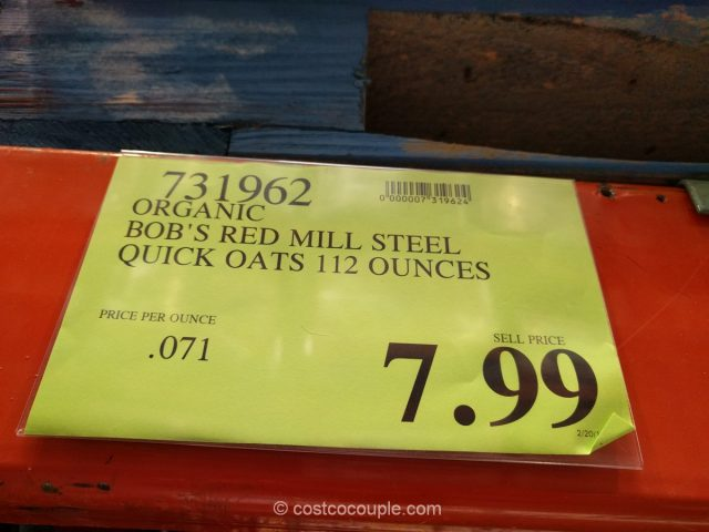 Bob's Red Mill Organic Single Serving Oatmeal Costco