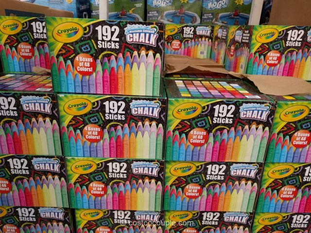 Crayola Sidewalk Chalk Costco 2